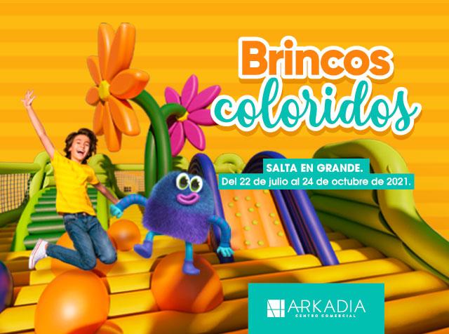 Brincos coloridos Arkadia centro comercial medellin evento